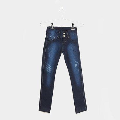 Calça Jeans Infantil Grifle Básica Feminina