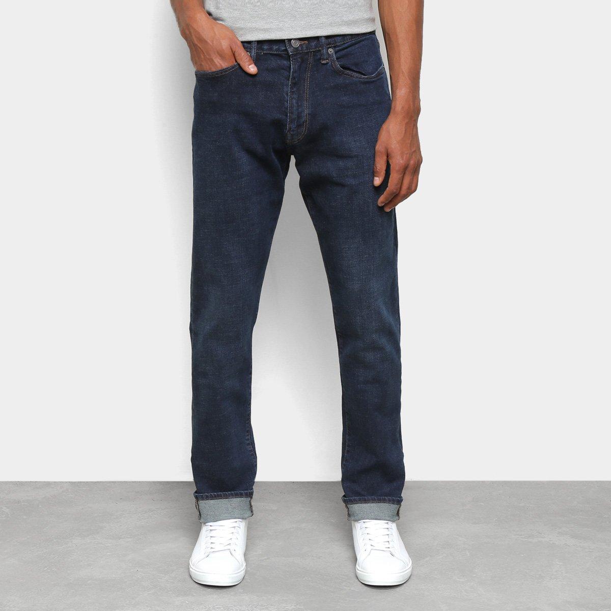 Calça Jeans GAP Reta Dobra Masculina