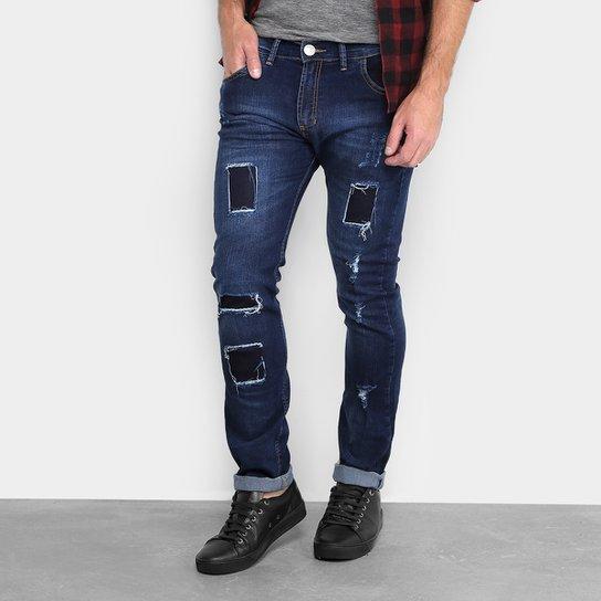 1e807c19 Calça Jeans Skinny Preston Rasgado Masculina - Jeans