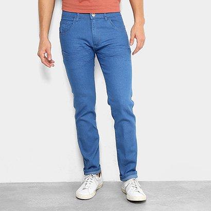 Calça Jeans Slim Preston Lavagem Clássica Masculina