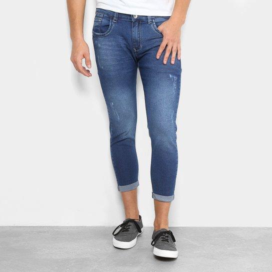 33f9a7320 Calça Jeans Skinny Preston Barra Virada Masculina - Azul | Netshoes