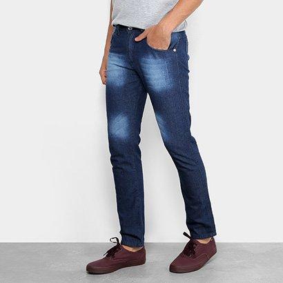 Calça Jeans Slim Preston Bigode Masculina