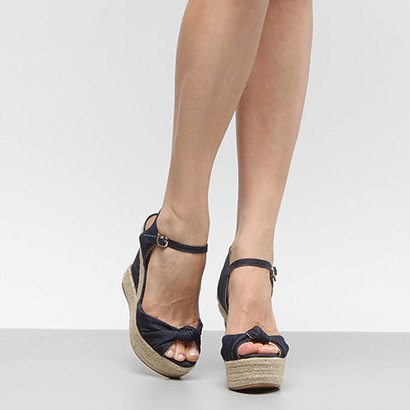 Sandália Plataforma Shoestock Corda Nó Feminina