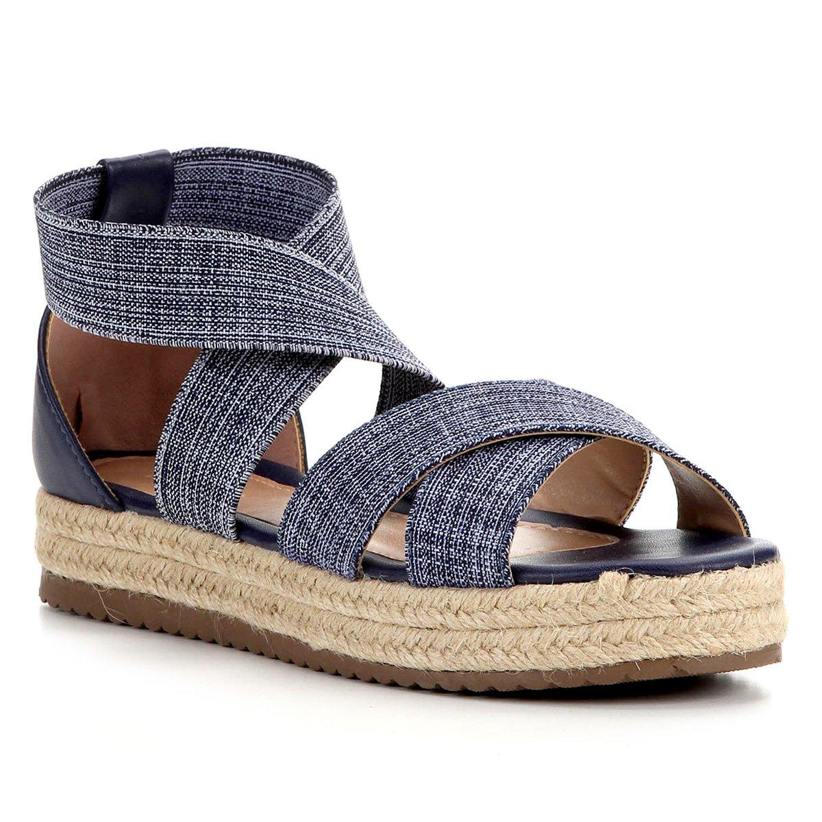Foto 1 - Sandália Shoestock Flatform Elástico Feminina