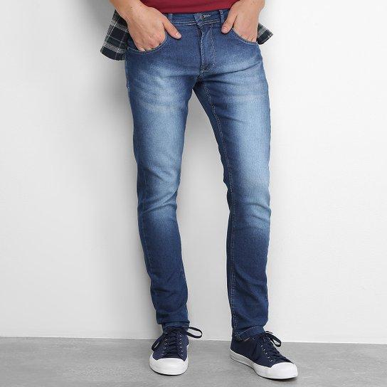 64324957ef Calça Jeans Reta Zamany Masculina - Azul