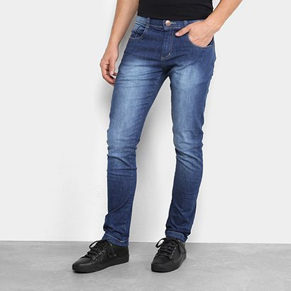 Calça Jeans Slim Zamany Estonada Masculina