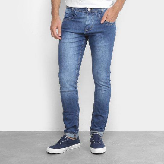 e65d5972e Calça Jeans Slim Zamany Estonada Masculina - Azul | Netshoes