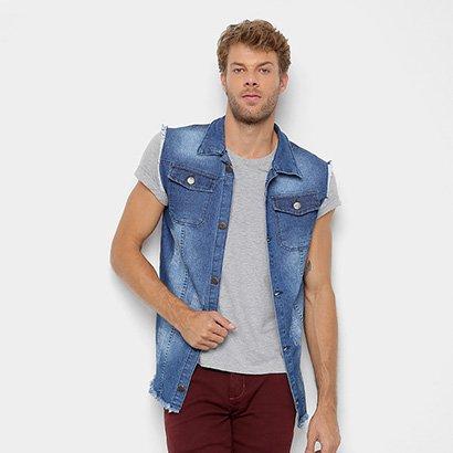 Colete Jeans Copen Estonado Bolsos Masculino