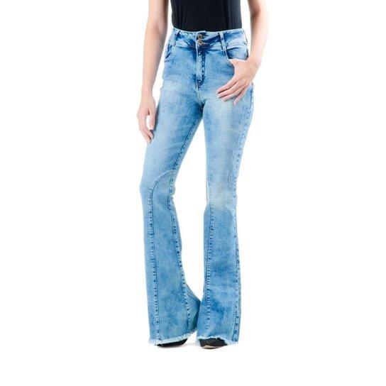 bb2b58fb2 Calça Jeans Flare Feminina Top Rock | Netshoes