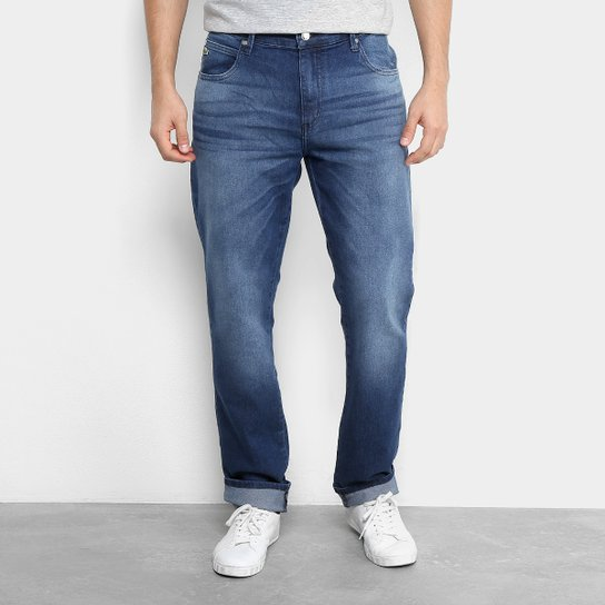 dc0cc6b5138 Calça Jeans Lacoste Live Masculina - Azul - Compre Agora