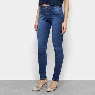 fc4e03aa1 Calça Jeans Skinny Morena Rosa Cintura Média Feminina