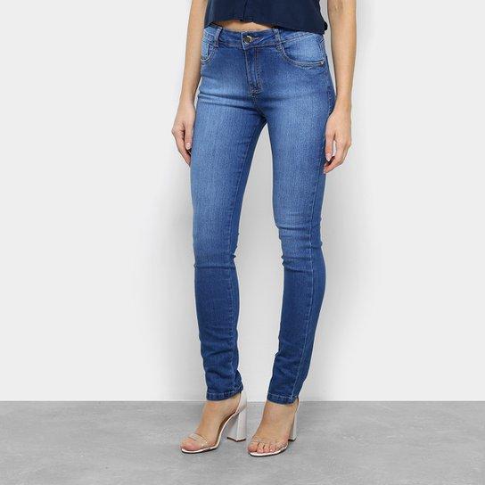 2ef92b363 Calça Jeans Skinny Morena Rosa Andréia Cintura Média Feminina - Azul