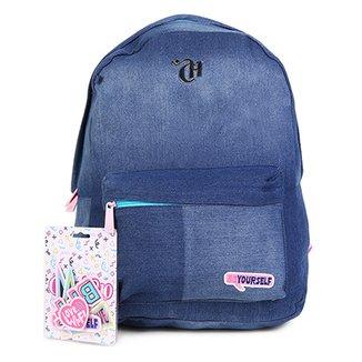 6ae406fe9 Mochila Escolar DMW Jeans Capricho Feminina