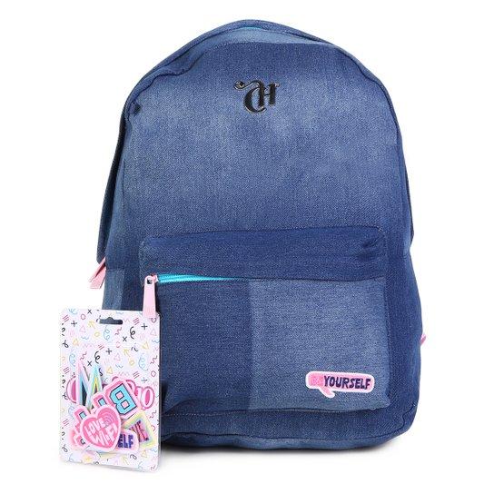 7ed46606c Mochila Escolar DMW Jeans Capricho Feminina - Jeans | Netshoes
