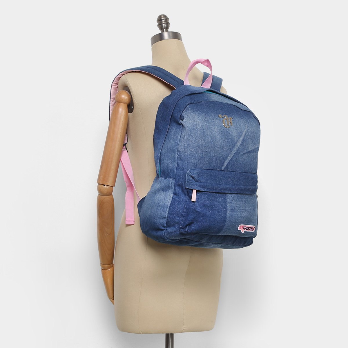17919db8b Mochila Escolar DMW Jeans Capricho Feminina - Shopping TudoAzul