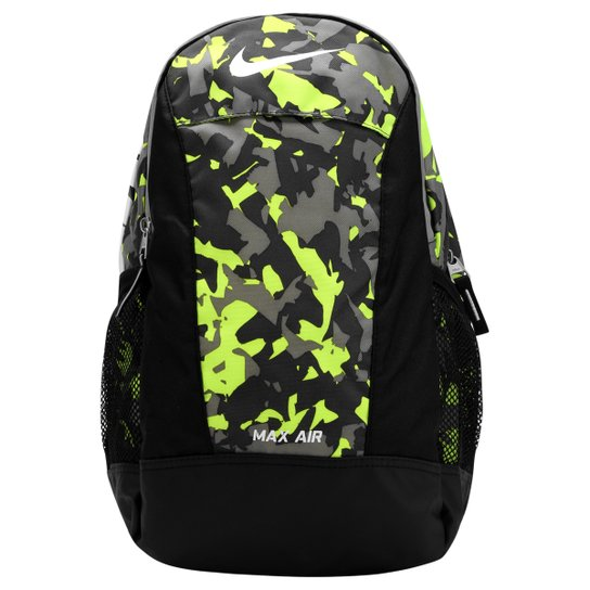 Mochila Nike Max Air Juvenil - Preto+Verde Limão 6292810ba83ac