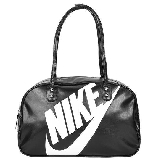 a33d6187f Bolsa Nike Heritage SI Shoulder Club - Preto+Branco