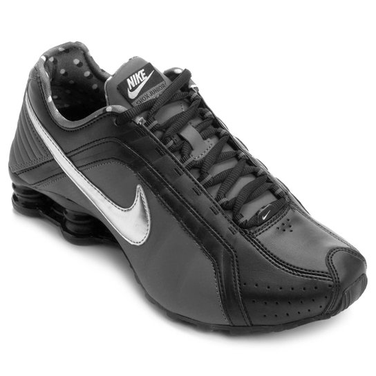 on sale a0459 7f721 Tênis Nike Shox Junior - Preto+Chumbo