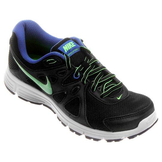 3b67dc3afc3 Tênis Nike Revolution 2 MSL - Preto+Verde Limão