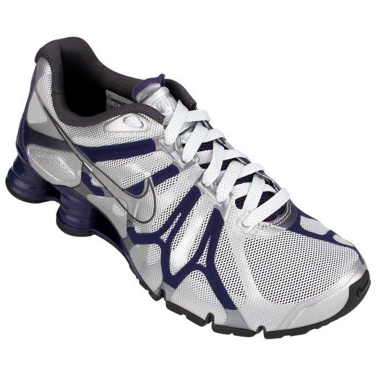 b5d5c705100d0 Tênis Nike Shox Turbo+ 13 - Prata+Marinho