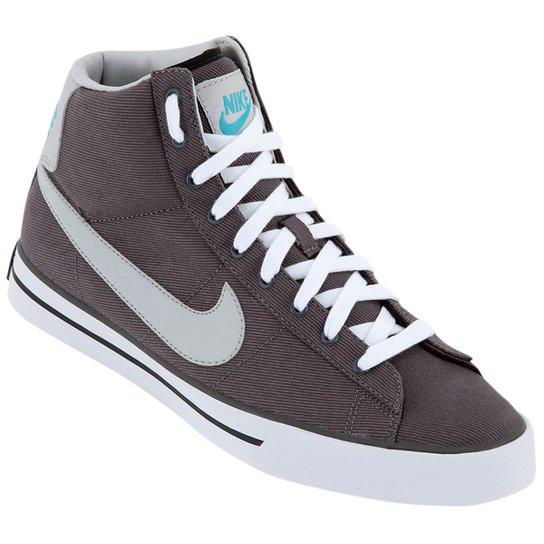 Tênis Nike Sweet Classic High Textile - Grafite e Branco - Compre ... b49cbc4661
