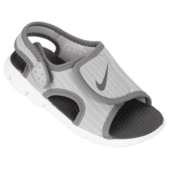 27fa9d5730 Sandália Infantil Nike Sunray Adjust 4 - Cinza e Branco   Netshoes