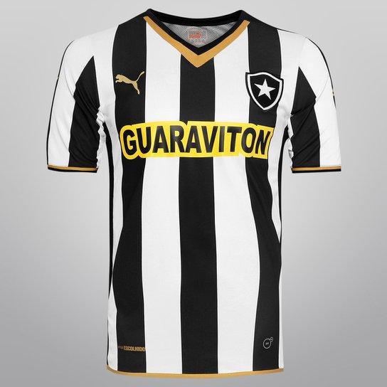Camisa Puma Botafogo I 2014 s nº - Torcedor - Preto e Branco 2901c2852fa48
