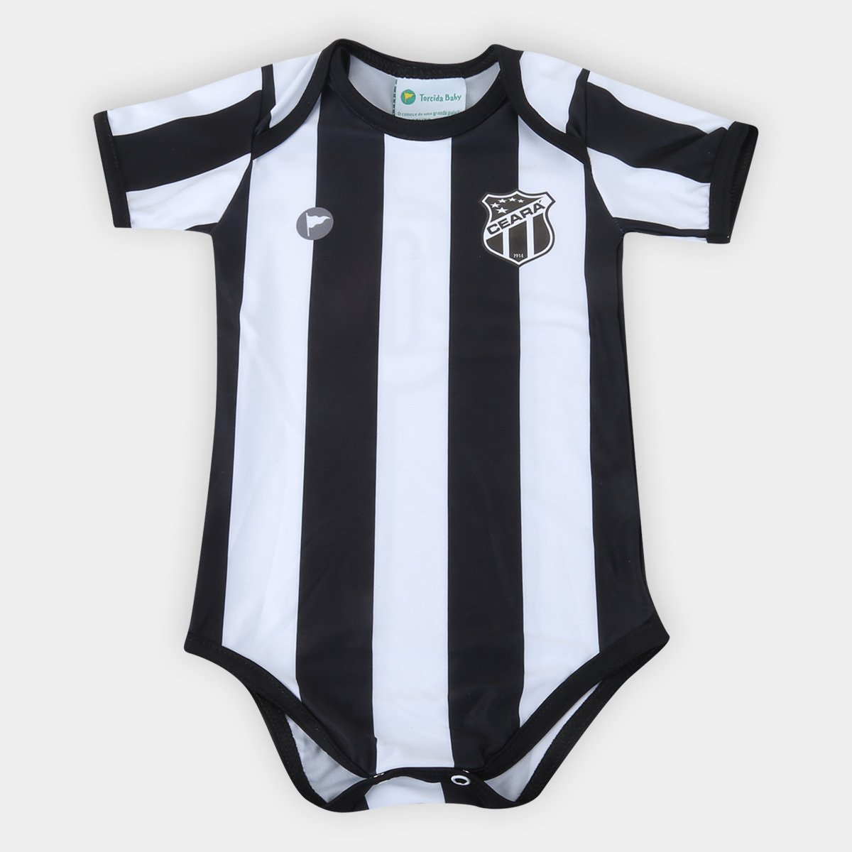 Body Ceará Infantil Torcida Baby Listrado Proteção UV