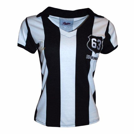 169ef2a4cd Camisa Liga Retrô Pepe 1963 Listrado - Preto e Branco - Compre Agora ...