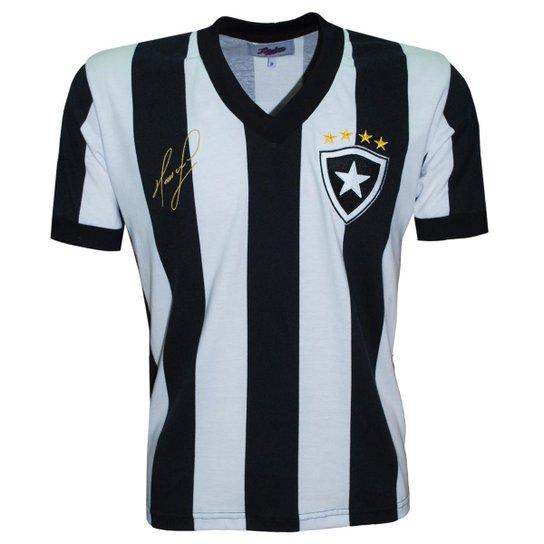 Camisa Botafogo Liga Retrô Mauricio 1989 - Preto e Branco - Compre ... 4716dd3a0d5d3