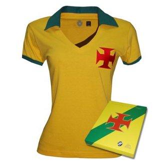 Camisa Liga Retrô Vasco Brasil Feminino- Edição Limitada 9bf1273d11864