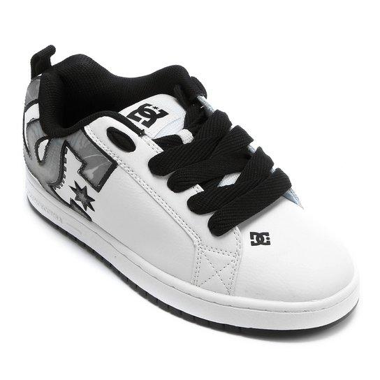 72bc43b64 Tênis DC Shoes Court Graffik SE - Branco+Preto
