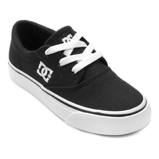 b9aa09406 Tênis Infantil DC Shoes Flash 2 Tx La Masculino - Preto e Branco ...