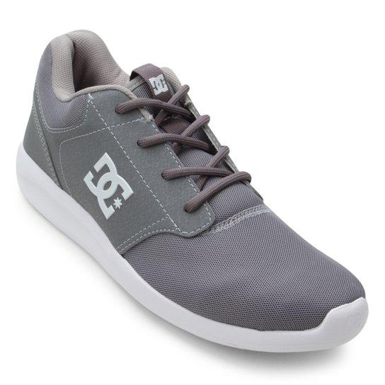 Tênis DC Shoes Midway Masculino - Cinza e Branco - Compre Agora ... e67a7f8afd6