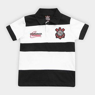 Camisa Polo Infantil Corinthians Democracia 1983 21f428f64bc97