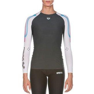 f39825137f Camiseta Feminina Manga Longa Carbon Compression