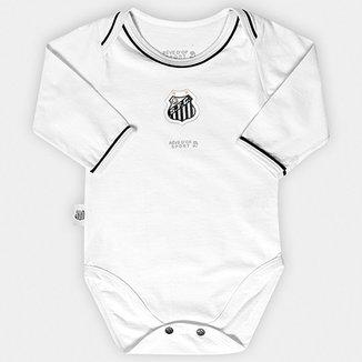 Body Santos Infantil Americano Vivos Bebê Manga Longa d70f714f121b1