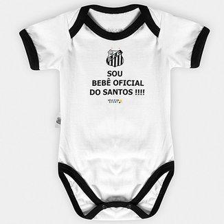 Body Santos Infantil Oficial Bebê a44cf5ac0c12d