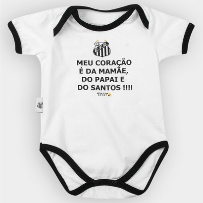 Body Santos Infantil 'Meu Coração É...' Bebê