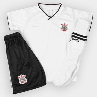 Conjunto Corinthians Juvenil Dry Uniforme Campo d523d6e9fe6be