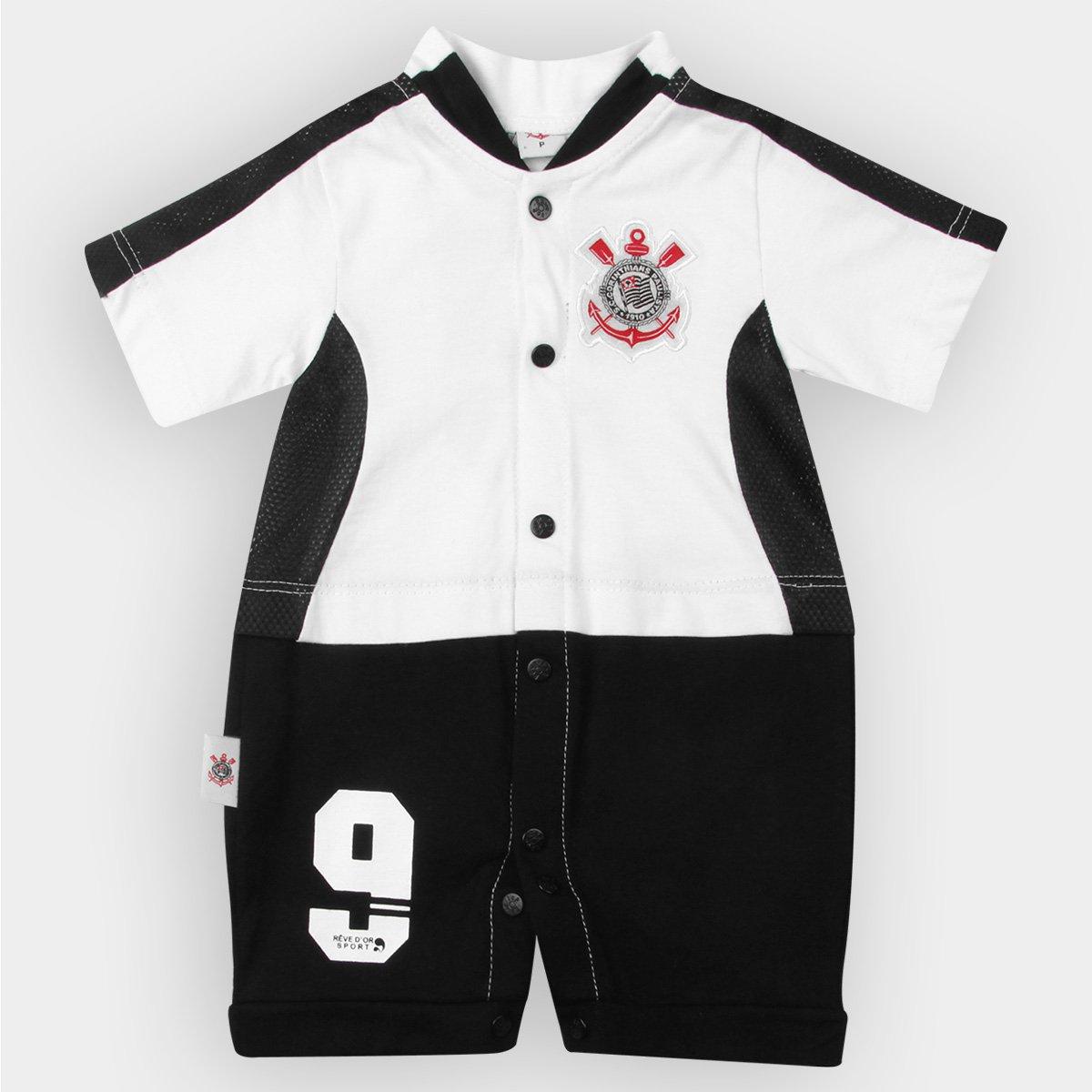 Macacão Corinthians Bebê Artilheiro