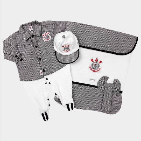 Kit Maternidade Corinthians Bebê Camisa - Cinza e Branco - Compre ... 52627e358a9