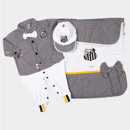 fcd754b4108b3 Kit Maternidade Santos Bebê Camisa - Preto e Branco - Compre Agora ...