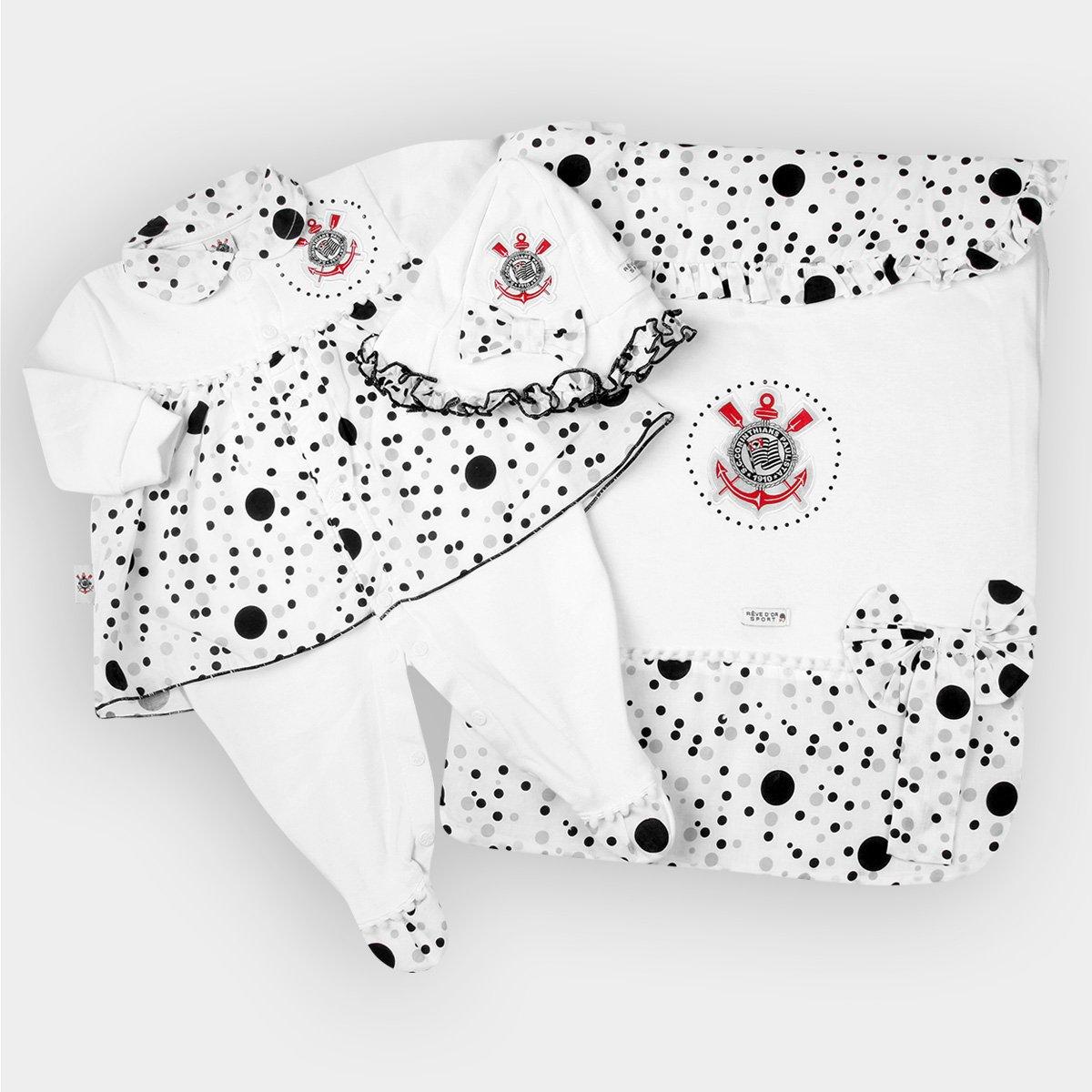 Kit Maternidade Corinthians Bebê Vestido