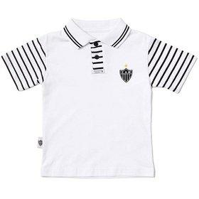 Camiseta Polo Meia Malha Menino Atlético Mineiro Reve Dor - 2 Anos 73f23c4adb555
