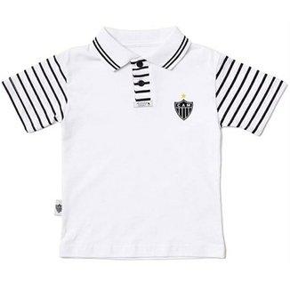 6744345dc3 Camiseta Polo Meia Malha Menino Atlético Mineiro Reve Dor - 2 Anos
