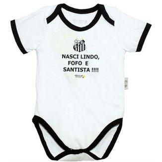 bbf589859c Body Nasci Lindo... Meia Malha Unissex Santos Reve Dor - G