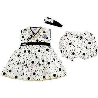 Vestido Bolinhas Com Calcinha E Tiara Voil Menina Santos Reve Dor - 2 Anos fa2fda81afd23