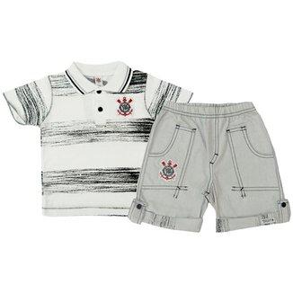 Conjunto Polo Shorts Meia Malha Oxford Menino Corinthians Reve Dor - 6 Anos f0b7702bdf91b