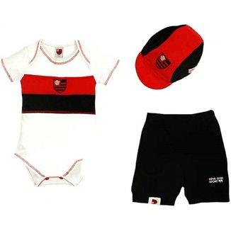ff89c49116 Kit Body Shorts Boné Liso Suedine Unissex Flamengo Reve Dor - G